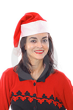 Merry Christmas Brunette Royalty Free Stock Photo - Image: 15711585