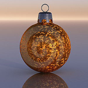 Gold Christmas Ornament Stock Image - Image: 15712681