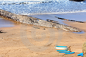 Surf Boards On The Cornish Coast Royalty Free Stock Photos - Image: 15715118