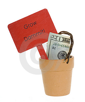 Twenty Dollar Bill In A Clay Pot Stock Photo - Image: 15715340
