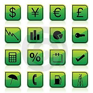 Finance Icons Royalty Free Stock Image - Image: 15717116