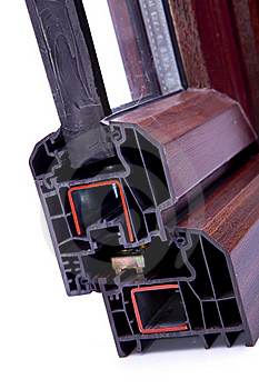 Cross Section PVC Window Royalty Free Stock Images - Image: 15719299