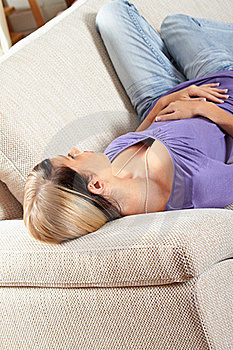 Woman In Living Room Is Sleeping Royalty Free Stock Images - Image: 15719909