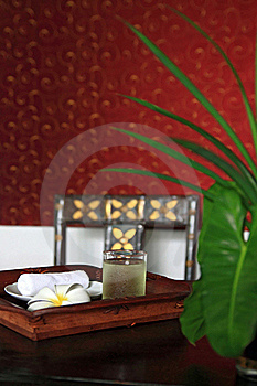 Refreshment Set Using In Spa Stock Images - Image: 15719914