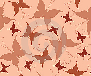 Seamless Background With Retro Butterflies Stock Image - Image: 15719981