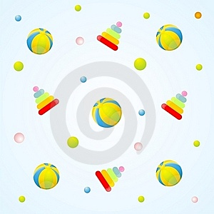 Toys Pattern Royalty Free Stock Photography - Image: 15720147