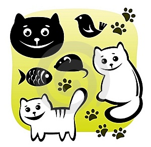 Cats Set Stock Image - Image: 15721471