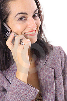 Business Brunette On The Phone Stock Photos - Image: 15722543