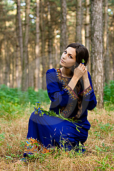 Girl At The Forest Stock Images - Image: 15725434