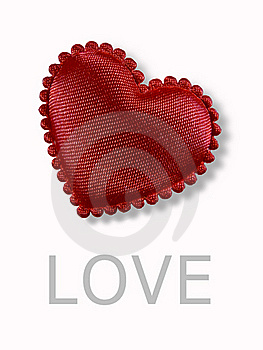 Red Heart White Background. Royalty Free Stock Image - Image: 15725736