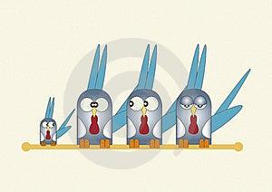 Cartoon Birds Royalty Free Stock Image - Image: 15726666