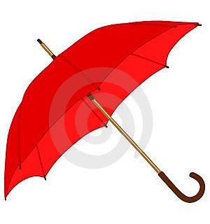 Red Classic Umbrella Stock Photos - Image: 15727823
