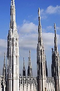Splendid Statue Artwork In Baslique Of Milan Royalty Free Stock Image - Image: 15731636