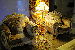 Luxury Room With Sofa And Floor Lamp Royalty Free Stock Photo - Image: 15731675
