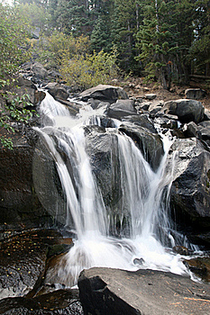 Waterfall At Twin Lakes 7418 Stock Images - Image: 15731704