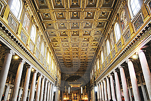 Splendid Roof Decoration In Cathedral Saint Peter Royalty Free Stock Images - Image: 15732969