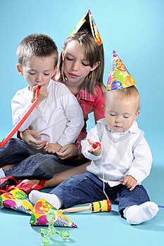 White Girl Playing With Two Beautiful Boys Stock Photography - Image: 15733532
