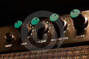 Worn-out Guitar Amplifier Royalty Free Stock Images - Image: 15737979