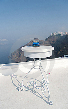 Open Air Restaurant With Sea And Mountain View Royalty Free Stock Photo - Image: 15738585