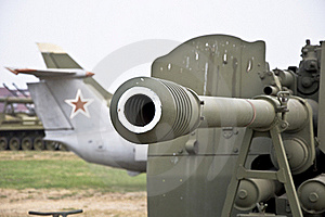 Barrel Of The Gun. Royalty Free Stock Images - Image: 15738859