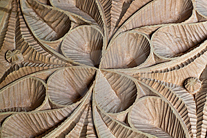 Carved Wood Panel Detail Stock Photo - Image: 15739610