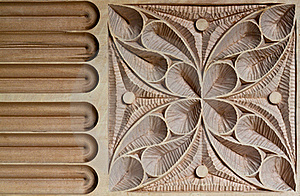 Carved Wood Panel Stock Image - Image: 15739671