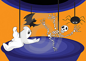 Halloween, A Carousel Of Horror Royalty Free Stock Photo - Image: 15742915