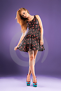 Beautiful Red-haired Girl Stock Photos - Image: 15745373