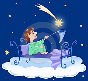 The Boy Catches Star. Stock Images - Image: 15745964