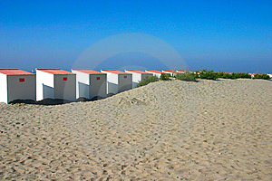Beach Cabins Stock Images - Image: 15748484