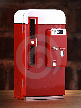 Vintage Toy Soda Machine Royalty Free Stock Photo - Image: 15749395