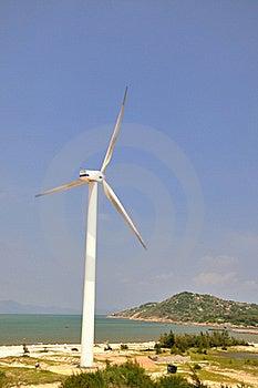 Wind Power Generator By Sea Stock Photos - Image: 15749473