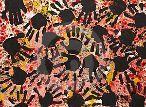 Hand Print Painting Royalty Free Stock Image - Image: 15749516