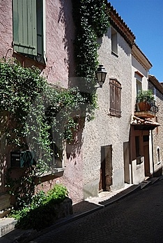 Street View In Village Of Provence, France Royalty Free Stock Image - Image: 15750496