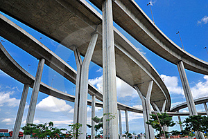 Curve Of The Highway Royalty Free Stock Photography - Image: 15751077