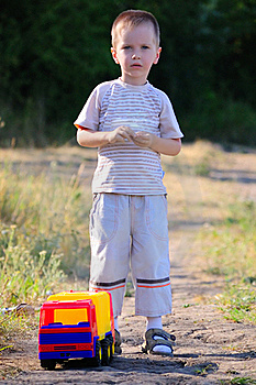 The Boy And A Toy Stock Photos - Image: 15751693