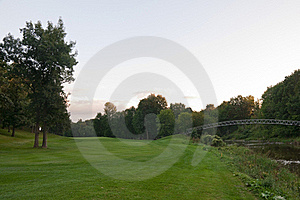 Bridge On The Golf Course Stock Photos - Image: 15751943