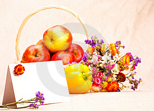 Greeting Card And Fruit Stock Photography - Image: 15752842