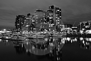 Night View Of Docklands Stock Images - Image: 15753124