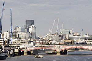 London Bridge And Equipments In Background Stock Photos - Image: 15754113