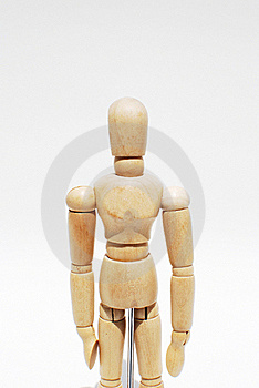 Wooden Mannequin Human Scale Model Isolated Royalty Free Stock Photography - Image: 15754267