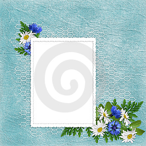 Card For The Holiday  With Flowers Stock Photography - Image: 15755782