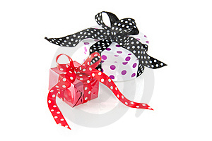 Colorfully Dotted Gifts Stock Images - Image: 15756304