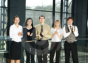 A Group Of Five Business Persons In An Office Stock Images - Image: 15757084