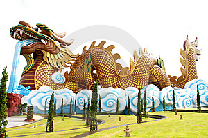 Golden China Dragon Stock Photos - Image: 15758023
