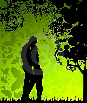 Silhouette Of Lovers Stock Images - Image: 15758754
