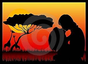 Silhouette Of Lovers Royalty Free Stock Photography - Image: 15758857
