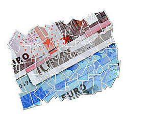 Euro Money Collage Stock Images - Image: 15761094