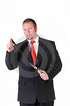 Agressive Businessman Royalty Free Stock Photography - Image: 15763207