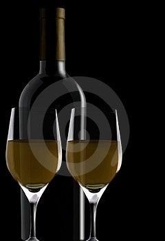 Glasses And Bottle Stock Photo - Image: 15765050